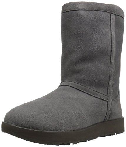 Ugg Australia Classic Short 1017508-MTL Suede Womens Boots - Metal - 37