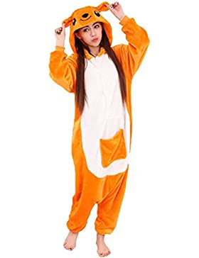Cliont Animale Canguro Pigiama Kigurumi Sleepwear Nightclothes Costume Cosplay Anime Natale Tutina