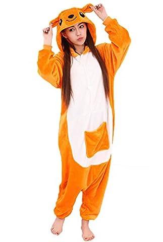 Cliont Animal Kangaroo Pyjamas Kigurumi Vêtements de nuit Costumes de nuit Anime Cosplay Noël