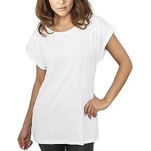 Urban Classics Damen T-Shirt Ladies Extended Shoulder Tee, Farbe white, Größe XL