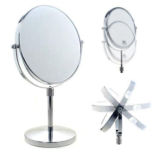 TUKA Standspiegel Höhenverstellbar 5 fach Vergrößerung, 8 inch Schminkspiegel Kosmetikspiegel,...