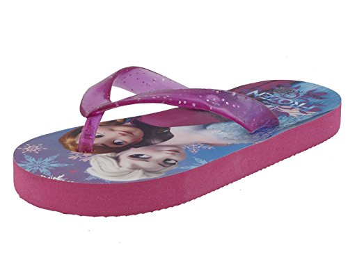 Lil Firestar Girls Slippers for Kids (8 to 9 Years)_Pink & Blue_2.5UK