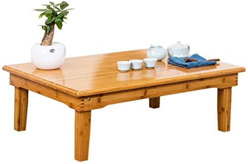 MJK Tisch, tragbarer Laptopständer aus Bambus, faltbar, schnelles Serviertablett, klappbare Beine, faltbare Bettdecke, Spiele auf dem Nachttisch - Werkbank,70X32cm