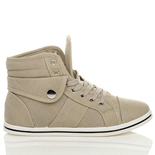 Ajvani , Damen Sneaker Taupe Beige