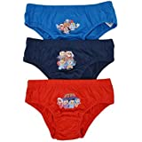 Aumsaa para niños Personajes 100% Calzoncillos Algodón Ropa Interior Slips Pantalones Paquete de 3