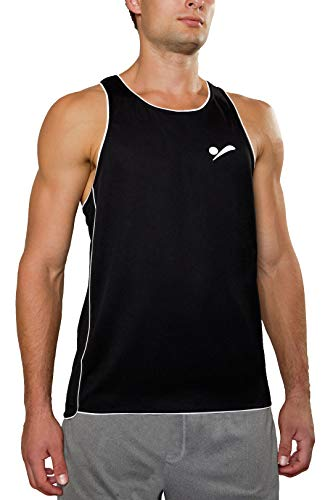 Beach-herren Shirt (Beach Volleyball Apparel Herren Beachvolleyball Shirt Trikot Sport Tank Top TT100 (Schwarz, M/L))