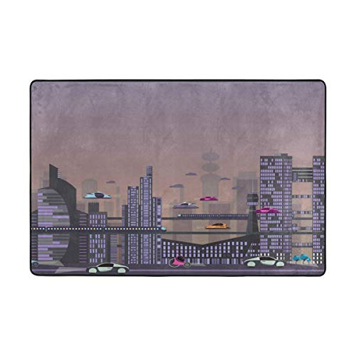 ure City Landschafts-Teppiche für Wohnzimmer Fußmatte Teppich Fußmatten Schuhe Schaber für Wohnzimmer/Esszimmer/Schlafzimmer/Küche, Rutschfest, Polyester, 1, 36 x 24 inch ()
