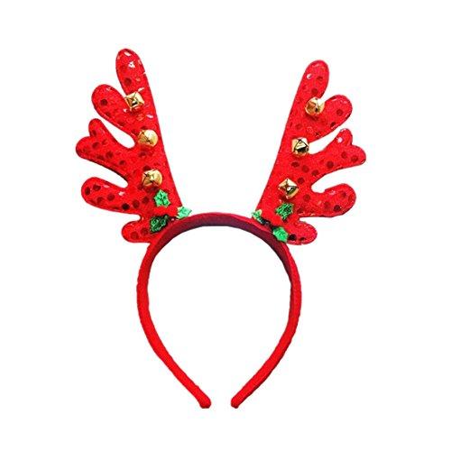 MOIKA Christmas Geweihe Stirnbänder Plüsch Abendkleid Kostüm (Frauen Kostüm Für Donut)