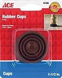 4PC 1–1/5,1cm braun Gummi Cup Pads Ace 52496082901524960