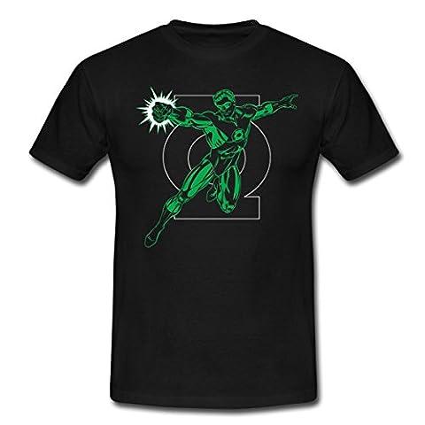 DC Comics Originals Green Lantern Logo Männer T-Shirt von Spreadshirt®, L, Schwarz