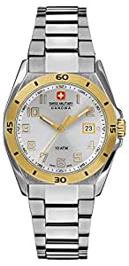 Swiss Military Guardian Lady Women's Quartz Watch with Silver Dial Analogue Display and Silver Stainless Steel Bracelet 6-7190.55.001
