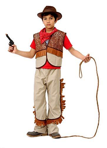 Glooke Selected Kostüm Cow Boy L, Mehrfarbig, 12-14 Years, 374369 (Junior Cowboy Kostüm)