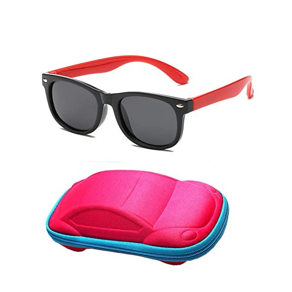 Flyfish Gafas de sol geniales para niños Gafas de sol para niños Niños Chicas Sunglass UV 400 Protección con estuche… 1