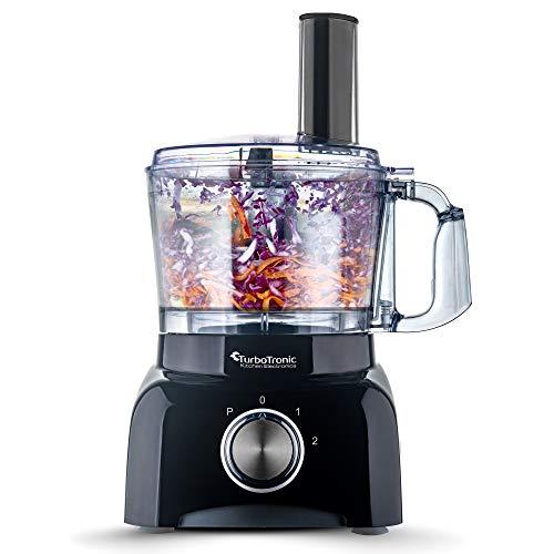 800 Watt Küchenmaschine 1,2 Liter Behälter - BPA frei - inkl, Kaffeemühle, Spiralschneider, Zerkleinerer, Mixer -