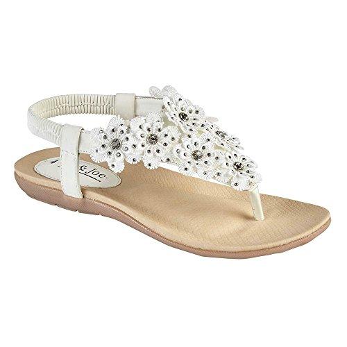 Generic - Strap alla caviglia donna White - T