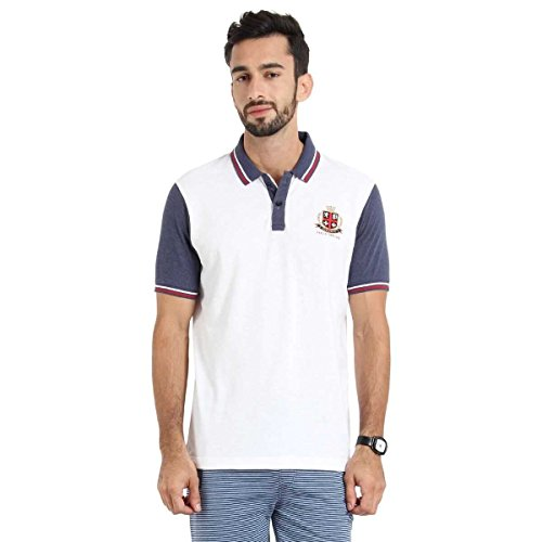 Proline Men's Polo With Tipping And Back Panel Print