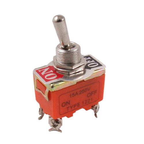 sourcingmap® SU/SPENTO AC 250V 15A DPST 4-poli 2 Posizioni Pulsante Interruttore