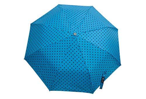 A Little Swag Polyester 3 Fold Polka Dots Manual Open Close Button Umbrella for Women