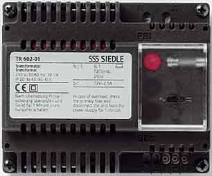 SIEDLE 2543069 - TRANSFORMADOR DE 230V AC / 12V AC TR 602-01