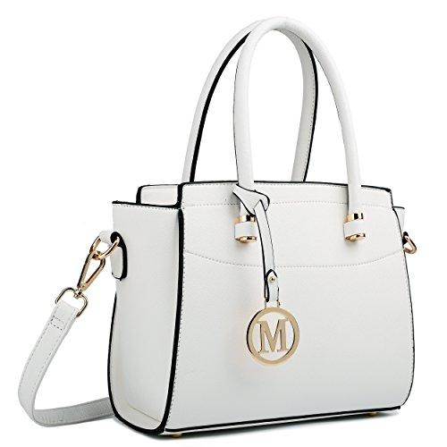 Miss Lulu , Damen Schultertasche M, Mehrfarbig - weiß - Größe: Medium