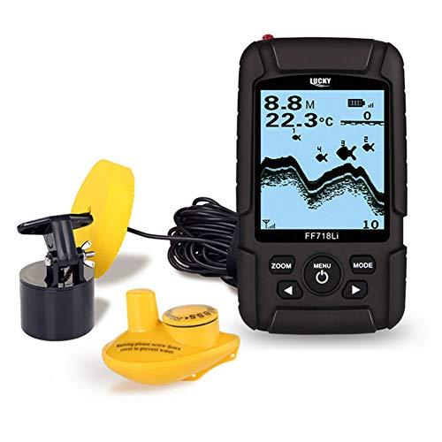 LCKS Tragbarer Fishfinder-Sonar-Sensor und LCD-Display -