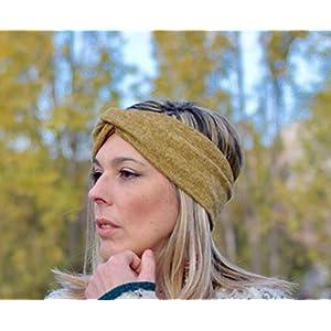 Ocker Stirnband Turban Haarband für dame