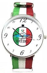 Idea Regalo - EREMITI Watch Flag Italia Collection Orologio Cinturino Bandiera Italia Stoffa Movimento Quartz Personalizzato Stile CLUSE (Italia)