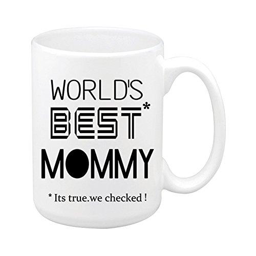 Quickmugs2u regalo moderno festa della mamma divertente mommy migliore del mondo tazza da caffè 15 once grande tazza da tè in ceramica bianca miglior regalo per il compleanno di chrisrtmas