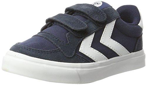 hummel Unisex-Kinder Stadil Canvas Mono Low JR Sneaker, Blau (Dress Blue), 38 EU (Kinder-blue Shoes Suede)