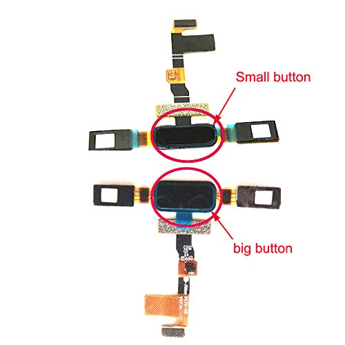 Sostituzione Pulsante Home Tasto Home + Cavo Flessibile per Nokia 8 N8 TA-1012 Black Big Botton