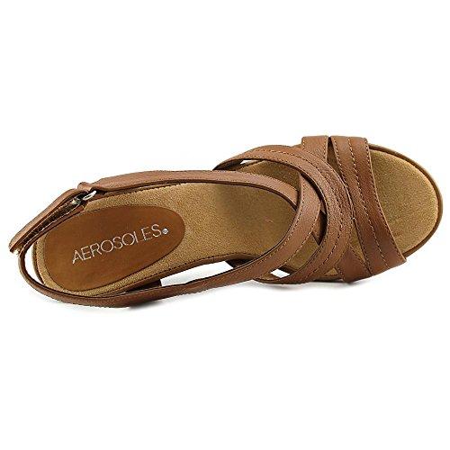 Aerosoles Wrote About Cuir Sandale Dark Tan