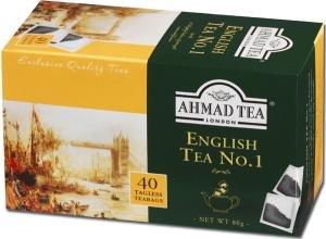 Ahmad Tea - English Tea No 1 | Schwarzteemischung mit Bergamotte | 40 Teebeutel á 2 g | Teebeutel ohne Band (Ahmad Tea English 1)