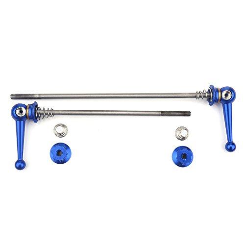 Alomejor 2 StüCke Ultraleicht Titan Legierung Schnellspanner Set Fahrrad Ersatz Ersatzteile ZubehöR(Blau)