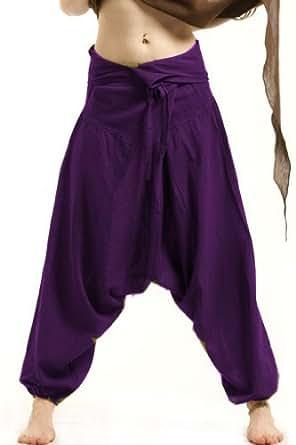 Natural Purple Unisex Fisherman Pants