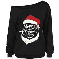 Geili Damen Weihnachten Langarmshirt Frauen Weihnachtsmann Drucken Schulterfrei Pullover Tops Sweatshirt Frauen... preisvergleich bei billige-tabletten.eu