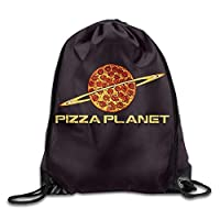 NiPapack Pizza Planet Fashion Drawstring Travel Bag&Cycling Beam Mouth Bags&Buggy Bag