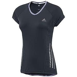 adidas Damen kurzärmliges Shirt Supernova, Night Shade F13, L, G80267