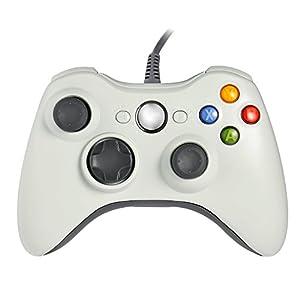 Gamepad Controller für Xbox 360, Verbessertes ergonomisches und USB-Kabel Design Für Microsoft , Xbox 360 PC Und Windows 7 (Weiß)