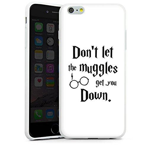 Apple iPhone X Silikon Hülle Case Schutzhülle Muggles Statement Harry Potter Silikon Case weiß