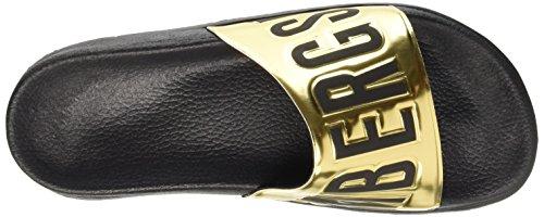 Bikkembergs Swimm-Er 414 M Shiny S.Leather, Sandali a Punta Aperta Uomo Oro