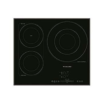 KitchenAid KHIS 6040 plaque - plaques (Intégré, Induction, Céramique, Noir, toucher, En haut devant)