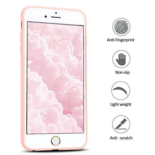 Coque iPhone 6 Plus , Etui iPhone 6 Plus TPU Housse en Silicone Gel Flexible Souple Ultra Mince de Protection Case Cover Mode Dessin Motif 3D Cartoon Animaux Mignons Panda Pour Apple iPhone 6 Plus (5. Rose