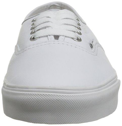 Vans Authentic Scarpe da Skateboard, Unisex Adulto Bianco (Blanc (Leather Truwht))