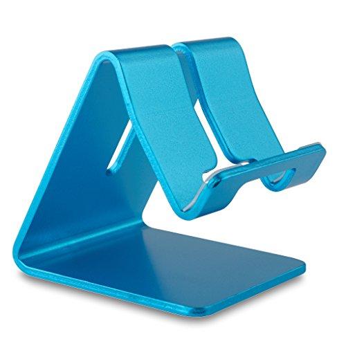REYTID Premium-solide Aluminium-Legierung-Halter für iPhone, Samsung, HTC, Sony, LG, Huawei und mehr! Smartphone-Stand Desktop-Mount Schlafzimmer Mobile tragbare Aufnahmeschale - Desk Holder Cup Laptop