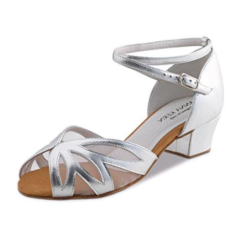 Anna Kern - Femmes Chaussures de Danse 599-35 - Cuir Argent - 3,5 cm Argent