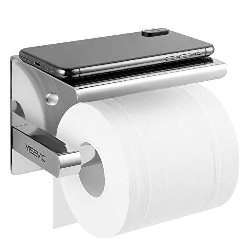 Yissvic Toilettenpapierhalter Ablage Klopapierrollenhalter Installation Mit  Schrauben Oder 3M Kleber