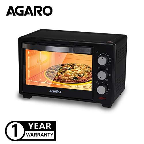 AGARO Marvel Series M25 25-Litre Oven Toaster Griller with Rotisserie (Black)