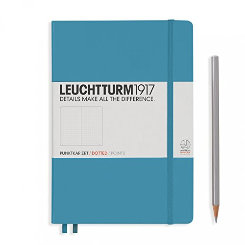 carnet-leuchtturm1917-medium-a5-dotted-couverture-rigide-249-pages-numerotees-nordic-blue