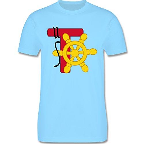 Anfangsbuchstaben - T Schifffahrt - Herren Premium T-Shirt Hellblau