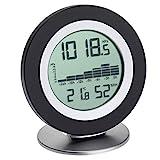 TFA Dostmann WeatherHub Digitales Barometer-Thermometer-Hygrometer Cosy BARO, Wetterstation, mit Grafikübersicht, schwarz